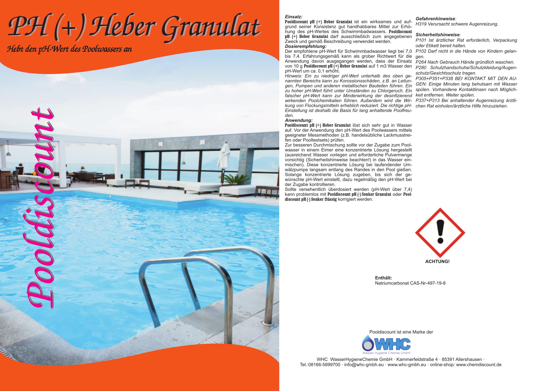 Top 25kg pH Heber Granulat (Natriumcarbonat) Sackware PH (+) plus | eBay VW75